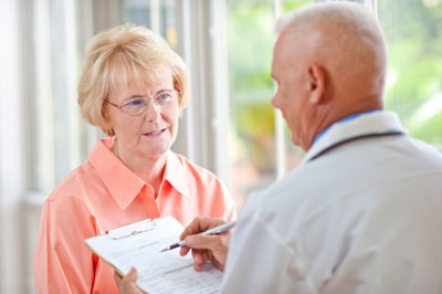 Practitioner and patient discussion